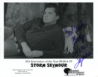 STORM SEYMOUR - AUTOGRAPHED SIGNED PHOTOGRAPH