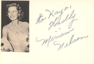 MIRIAM NELSON - AUTOGRAPH NOTE SIGNED