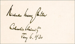 Autographs: NICHOLAS MURRAY BUTLER - SIGNATURE(S) 01/06/1930