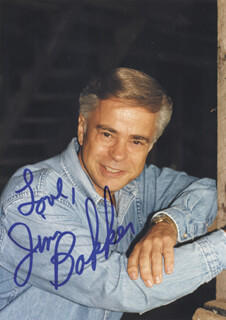 JIM (JAMES ORSON) BAKKER - AUTOGRAPHED SIGNED PHOTOGRAPH