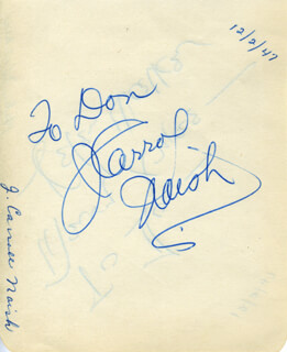 J. CARROL NAISH - INSCRIBED SIGNATURE CO-SIGNED BY: HELEN WALKER
