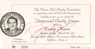 DANNY THOMAS - TICKET SIGNED CIRCA 1970