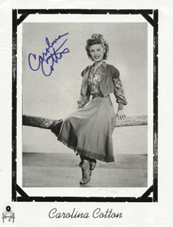 CAROLINA COTTON - BOOK PHOTOGRAPH SIGNED CO-SIGNED BY: HARRY CAREY JR.