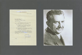 JEAN HERSHOLT - TYPED LETTER SIGNED 06/03/1952