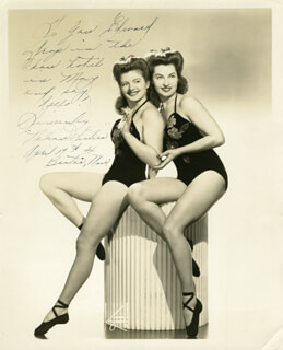 THE NELSON SISTERS - AUTOGRAPHED INSCRIBED PHOTOGRAPH 04/17/1946