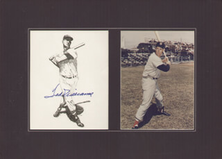 TED WILLIAMS - PRINTED ILLUSTRATION SIGNED