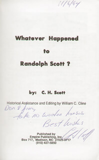 CHRIS H. SCOTT - INSCRIBED BOOK SIGNED 11/06/1994