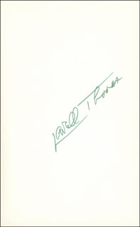 LOWELL THOMAS - BOOK SIGNED CIRCA 1968