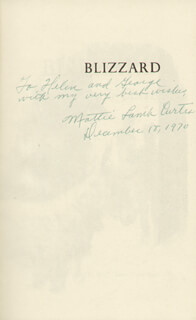 MATTIE LAMB CURTIS - INSCRIBED BOOK SIGNED 12/18/1970