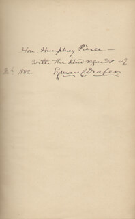 LYMAN C. DRAPER - INSCRIBED BOOK SIGNED 1882