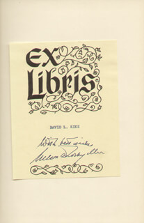 Autographs: VICE PRESIDENT NELSON A. ROCKEFELLER - BOOK PLATE SIGNED