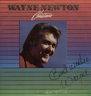 WAYNE NEWTON - RECORD ALBUM COVER SIGNED