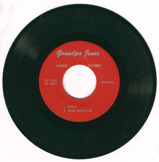 GRANDPA (LOUIS MARSHALL) JONES - RECORD UNSIGNED