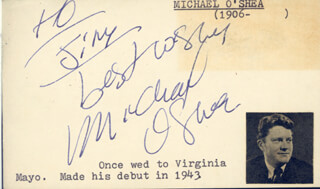 MICHAEL O'SHEA - AUTOGRAPH NOTE SIGNED
