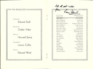 Autographs: BRIAN AHERNE - PROGRAM SIGNED