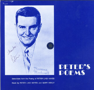 PETER LIND HAYES - RECORD ALBUM COVER SIGNED CO-SIGNED BY: MARY HEALY
