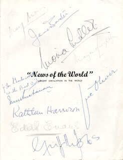 Autographs: JANE BAXTER - INSCRIBED PROGRAM SIGNED CO-SIGNED BY: VIC (VICTOR) OLIVER, KATHLEEN HARRISON, DAME EDITH EVANS