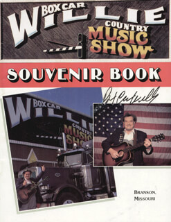 Autographs: BOX CAR WILLIE - PROGRAM SIGNED
