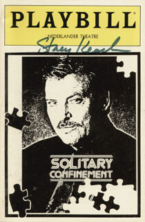 STACY KEACH - SHOW BILL SIGNED CIRCA 1992