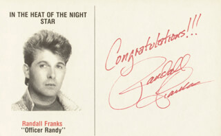 RANDALL RANDY FRANKS - PICTURE POST CARD SIGNED