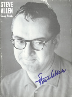 STEVE ALLEN - SHEET MUSIC SIGNED