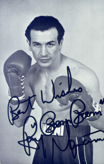 RAY BOOM BOOM MANCINI - PICTURE POST CARD SIGNED