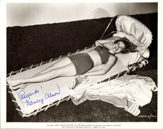 NANCY OLSON - AUTOGRAPHED SIGNED PHOTOGRAPH 1949