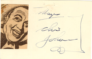 OLSEN & JOHNSON (CHIC JOHNSON) - INSCRIBED SIGNATURE