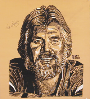 KENNY ROGERS - AUTOGRAPHED SIGNED POSTER