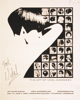 Autographs: VIDAL SASSOON - POSTER SIGNED