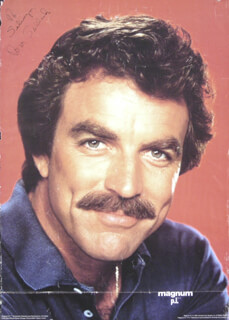 Autographs: TOM SELLECK - INSCRIBED POSTER SIGNED