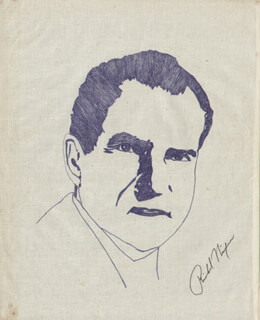 Autographs: PRESIDENT RICHARD M. NIXON - ILLUSTRATION SIGNED