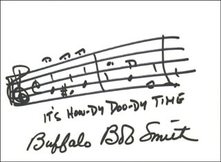 BUFFALO BOB SMITH - MUSICAL QUOTATION SIGNED