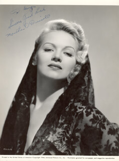 MARTHA O'DRISCOLL - AUTOGRAPHED INSCRIBED PHOTOGRAPH 1944