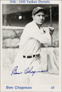 BEN CHAPMAN - TRADING/SPORTS CARD SIGNED