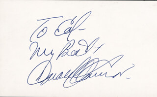 DONALD O'CONNOR - AUTOGRAPH NOTE SIGNED