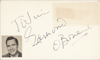 EDMOND O'BRIEN - INSCRIBED SIGNATURE CIRCA 1952