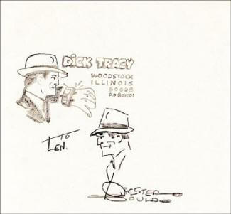 CHESTER GOULD - INSCRIBED ORIGINAL ART SIGNED