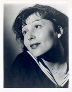 LUISE RAINER - AUTOGRAPHED INSCRIBED PHOTOGRAPH