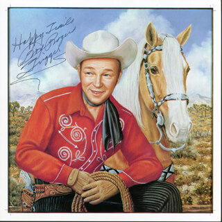 ROY ROGERS - PRINTED ART SIGNED IN INK