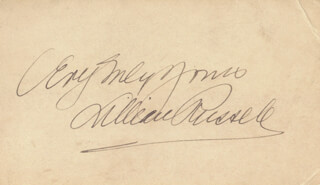 LILLIAN RUSSELL - AUTOGRAPH SENTIMENT SIGNED