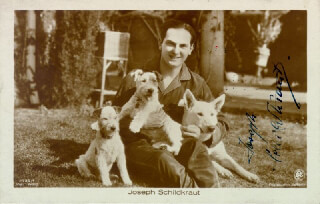 JOSEPH SCHILDKRAUT - PICTURE POST CARD SIGNED