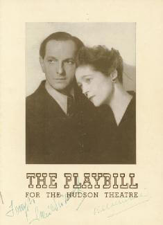 THE PLAYBILL PLAY CAST - SHOW BILL SIGNED CO-SIGNED BY: EVA LE GALLIENNE, JOSEPH SCHILDKRAUT