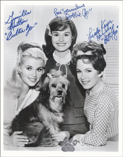 PETTICOAT JUNCTION TV CAST - AUTOGRAPHED SIGNED PHOTOGRAPH CO-SIGNED BY: LORI SAUNDERS, GUNILLA HUTTON, LINDA KAYE