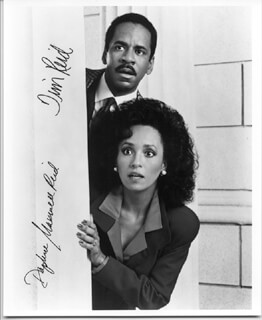 SNOOPS TV CAST - AUTOGRAPHED SIGNED PHOTOGRAPH CO-SIGNED BY: TIM REID, DAPHNE MAXWELL REID - HFSID 226471