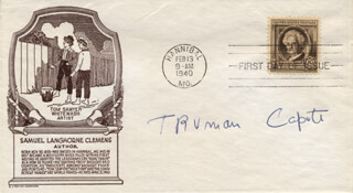 TRUMAN CAPOTE - FIRST DAY COVER SIGNED