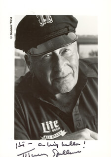 MICKEY SPILLANE - AUTOGRAPHED SIGNED PHOTOGRAPH