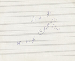 Autographs: CAB CALLOWAY - AUTOGRAPH LYRICS SIGNED