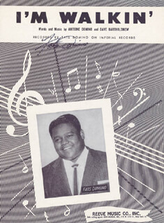 FATS DOMINO - SHEET MUSIC SIGNED