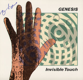 GENESIS (TONY BANKS) - RECORD ALBUM COVER SIGNED